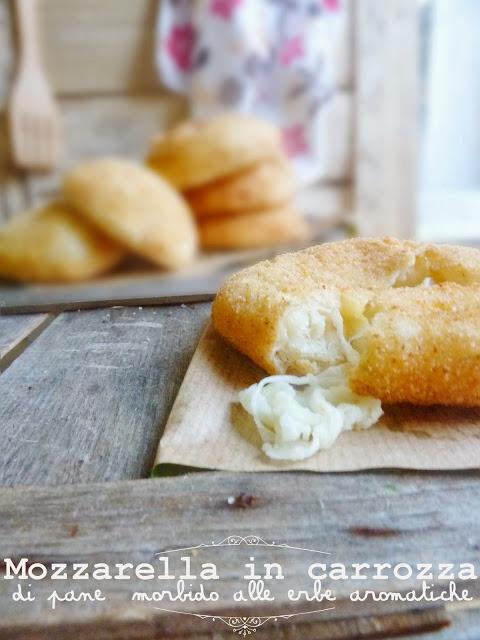 Ladri di Bicilette e la mozzarella in carrozza di pane morbido alle erbe aromatiche