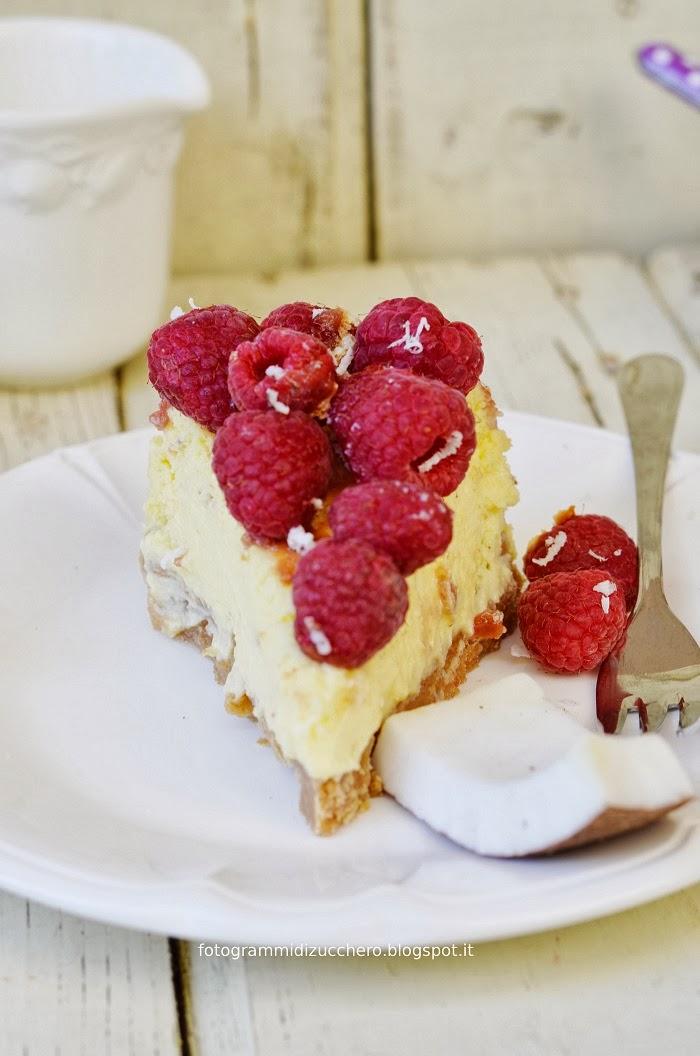 New York Cheesecake Alla Noce Di Cocco E Lamponi Per