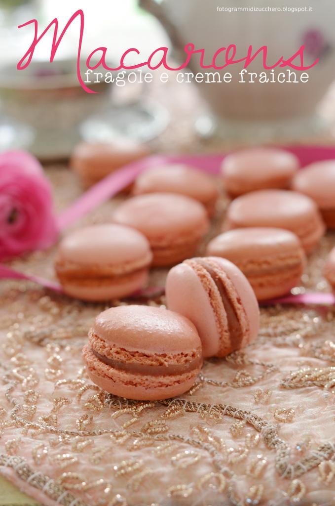 Marie Antoinette e i Macarons con fragole e crème fraiche