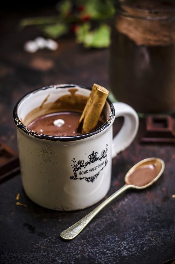 Preparato per cioccolata calda #regali di Natale homemade