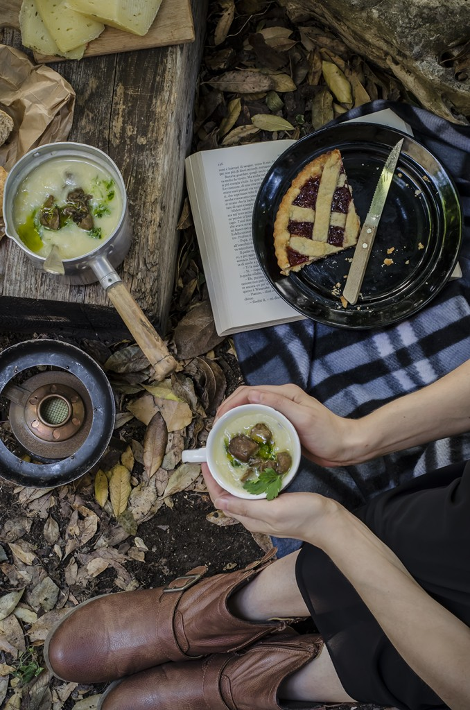 Zuppa di patate, porri e porcini per un pic nic di fine estate e Taste&More n.15