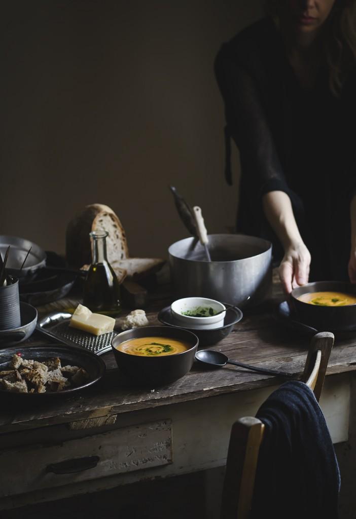 Zuppa di zucca, patate e cannellini