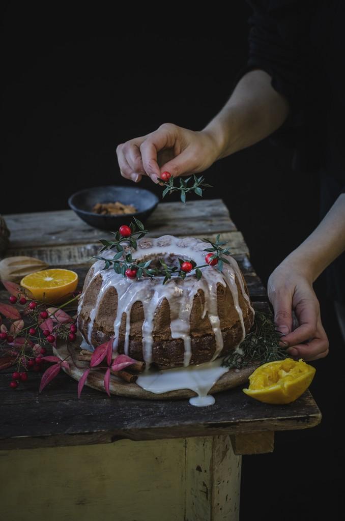 Chocolate gingerbread bundt cake, ciambellone al cioccolato speziato
