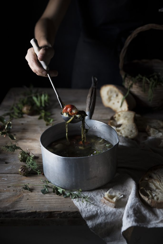 """Acquacotta  (""""Cooked Water"""", traditional soup from the Tuscia region of Rome and Viterbo)"""