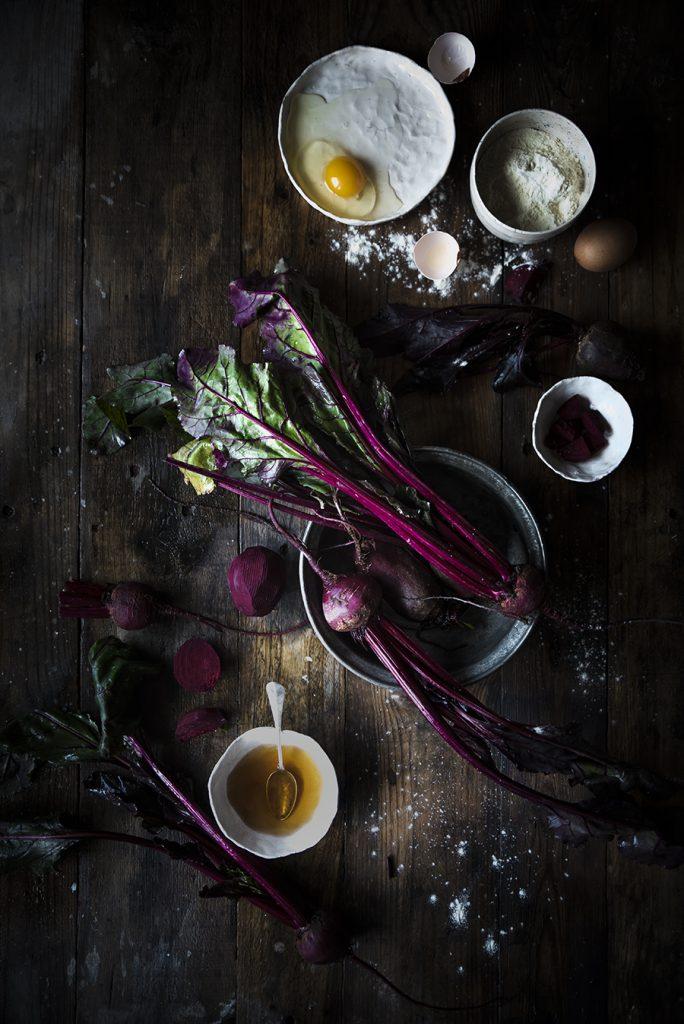 Gnocchi di barbabietole con pesto di spinaci, noci e primosale- Beet gnocchi with spinach pesto, walnuts&primosale