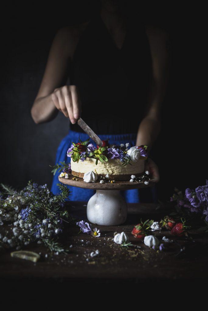Torta bavarese limone e camomilla- Chamomile lemon bavarian cake
