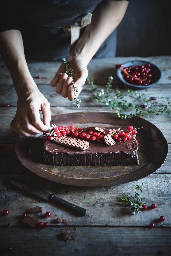 Budino al biscotto con Osvego al cioccolato Gentilini- Chocolate bisquit budino