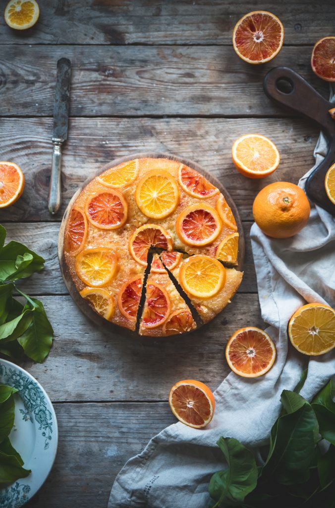 Torta rovesciata all'arancia- Upside down orange cake