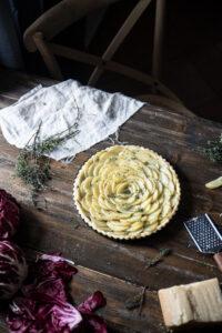 crostata salata radicchio e patate